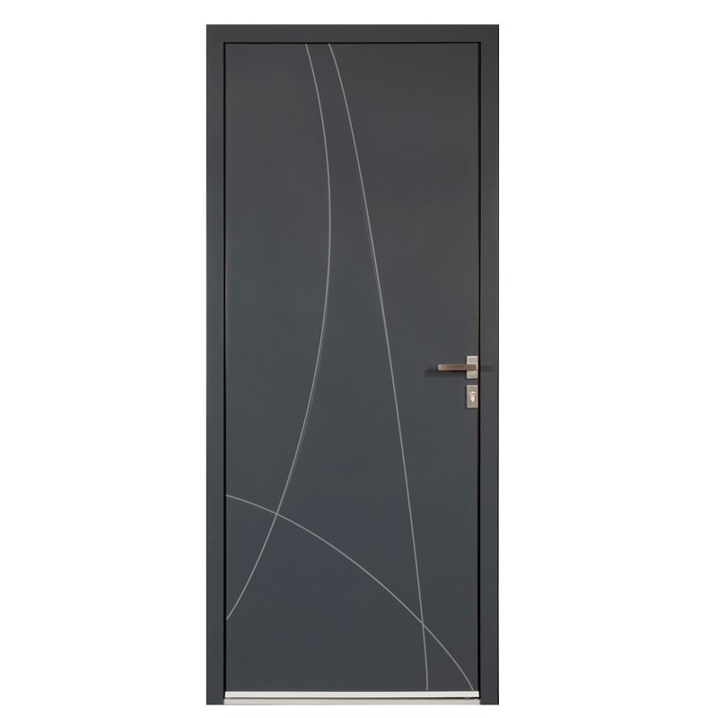 porte d 39 entr e en aluminium sur mesure ibiza toutes couleurs. Black Bedroom Furniture Sets. Home Design Ideas