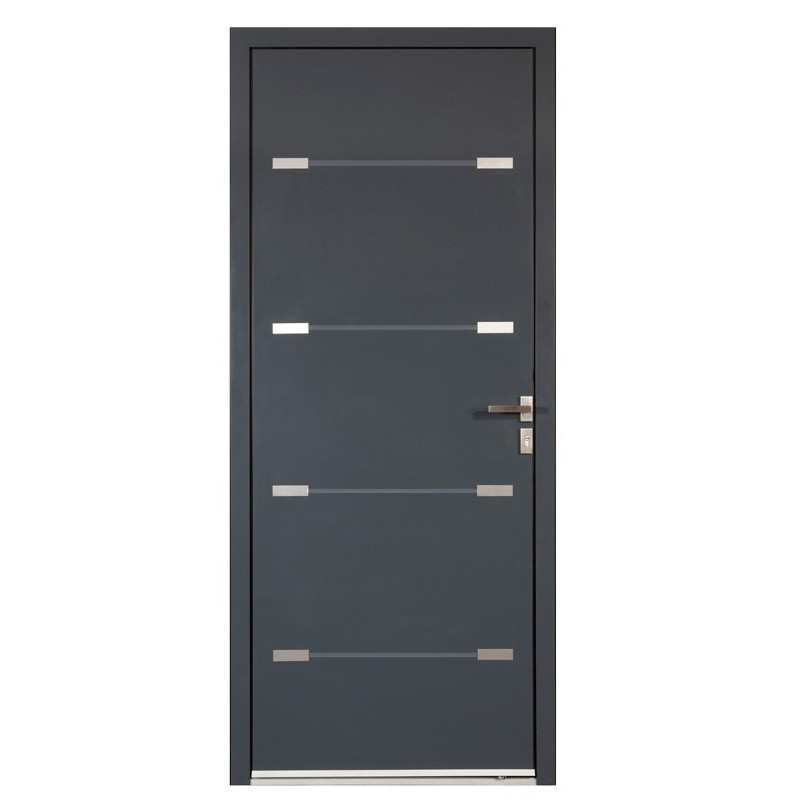 porte d 39 entr e aluminium. Black Bedroom Furniture Sets. Home Design Ideas