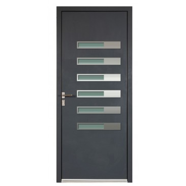 porte d 39 entr e en aluminium sur mesure tilos alnox toutes couleurs. Black Bedroom Furniture Sets. Home Design Ideas