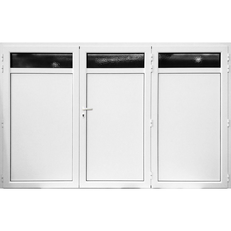 porte de garage aluminium battant 2 vantaux blanc standard 2400 x 2000 mm. Black Bedroom Furniture Sets. Home Design Ideas