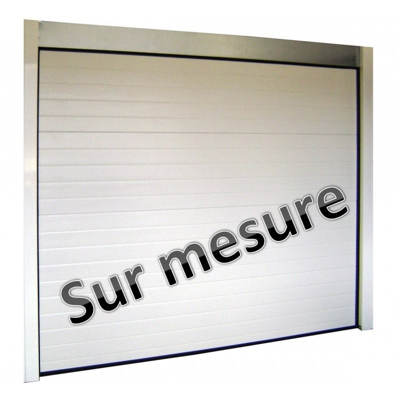 Porte de garage sectionnelle 40 mm for Prix porte de garage sur mesure