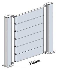 kit cl ture aluminium pleine kit hauteur max 1100 gris ou blanc. Black Bedroom Furniture Sets. Home Design Ideas