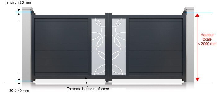 portail battant aluminium sur mesure perso motoriser. Black Bedroom Furniture Sets. Home Design Ideas