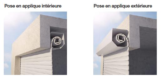 Porte de garage enroulable en aluminium motoris e standard 2400 x 2000 mm grandlux - Pose porte de garage enroulable ...