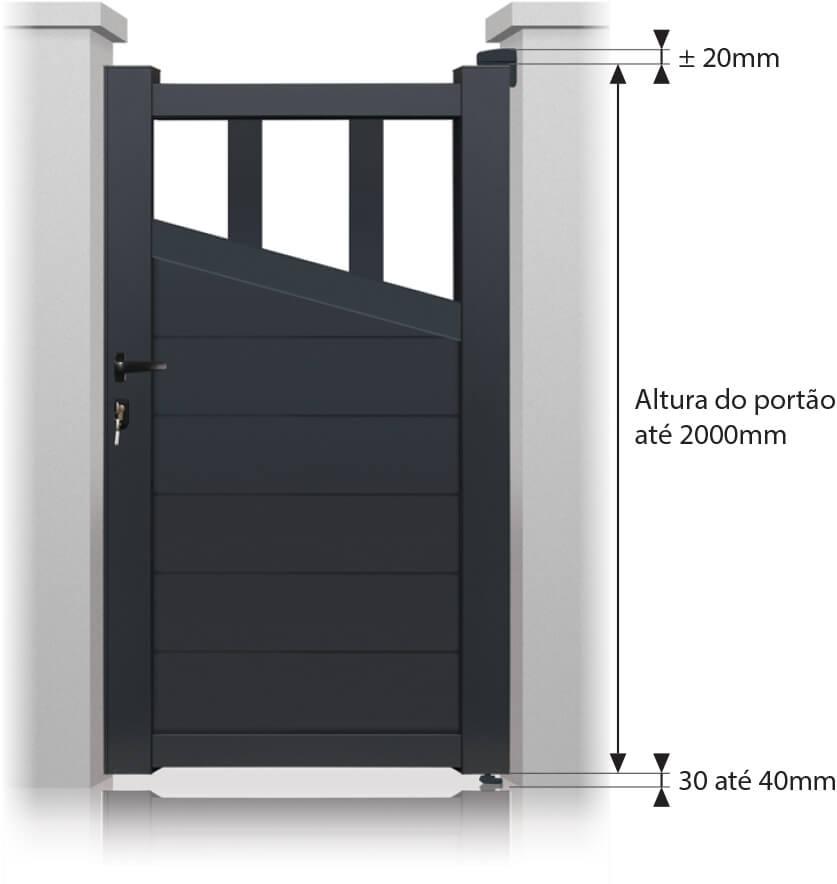 portillon houston aluminium sur mesure. Black Bedroom Furniture Sets. Home Design Ideas