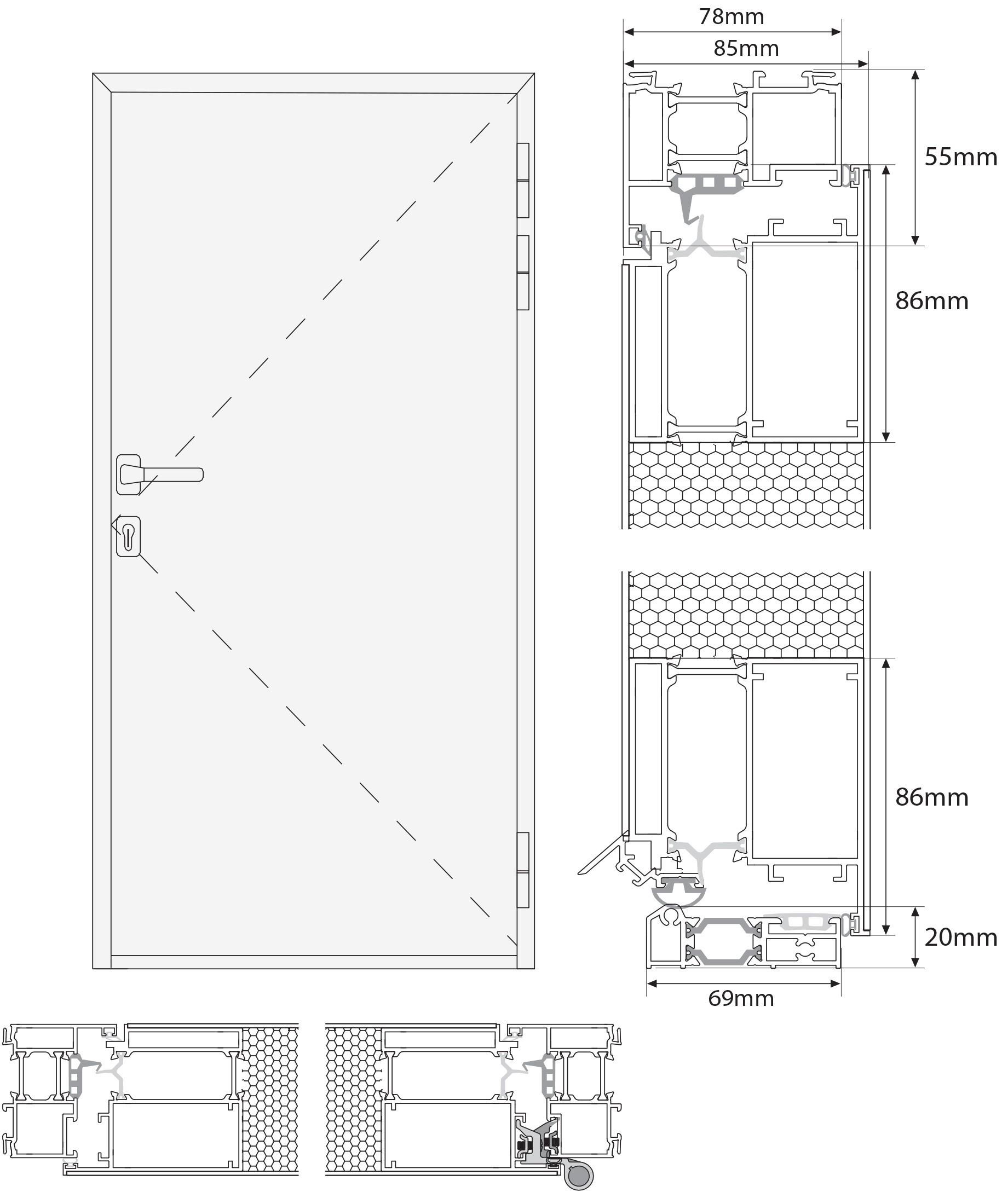 Nettoyer Volet Roulant Vitre Fixe porte d'entrée en aluminium sur mesure sicile tierce fixe