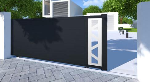 Portail aluminium Coulissant